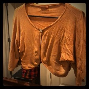 Michael Stars Copper cover up crop sweater